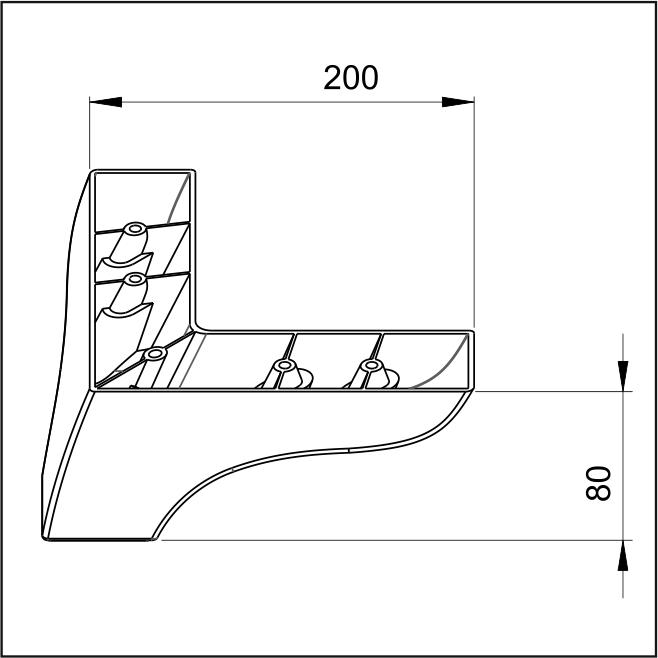 Picior New Nova 20*20*8 Alb VA 276-05