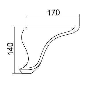 Picior River 18*18*14 Alb VA 491-05
