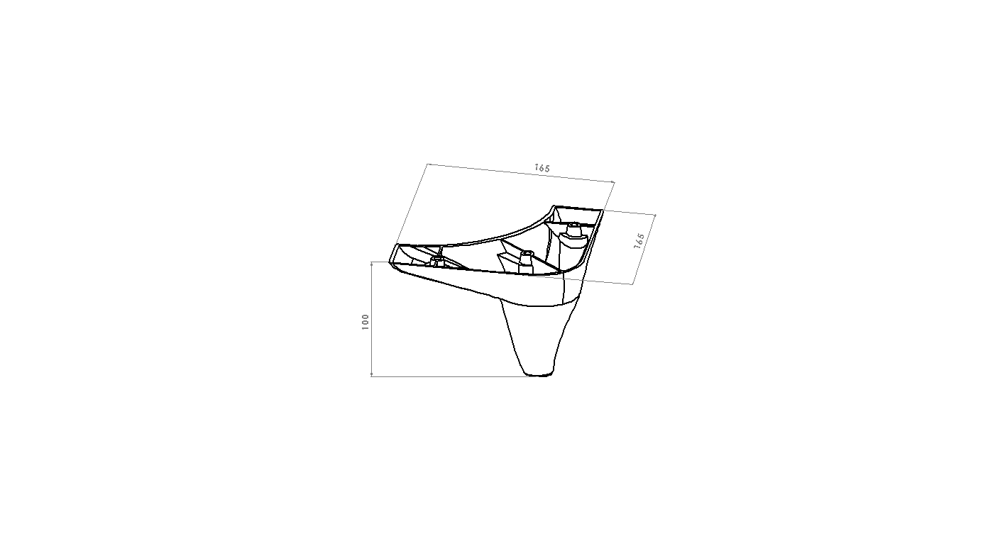 Picior Tigris 16.5*16.5*10 Alb VA 500-05