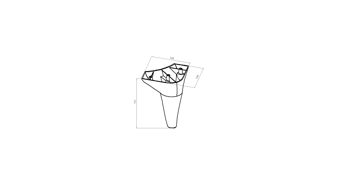 Picior Tigris 13.5*13.5*18 Moonstone VA 502-32