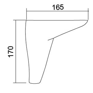 Picior Tigris 16.5*16.5*17 Crom VA 503-01
