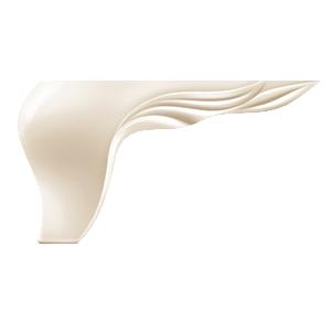 Picior Leaf 17 * 17 * 10 cm Moonstone VA 540-32