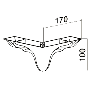 Picior Leaf 17 * 17 * 10 cm Foggy Moonstone VA 540-60