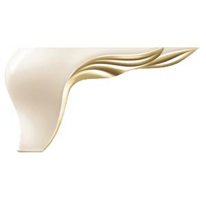 Picior Leaf 17 * 17 * 10 Galben Oglinda VA 540-93