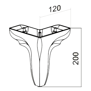 Picior Leaf 12*12*20 cm Nuc Mat VA 544-97