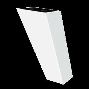 Picior Oval Angular 12 cm Alb VA 311-05