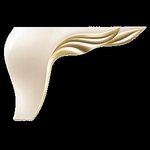 Picior Leaf 17 * 17 * 12 Galben Oglinda VA 541-93