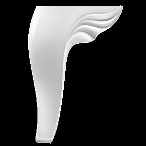Picior Leaf 12 * 12 * 20 cm Alb  VA 544-05